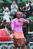 19 чемпионов Serena Willams грэнд слэм времен во время третьей спички круга на Roland Garros Стоковое Изображение RF