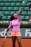 19 чемпионов Serena Willams грэнд слэм времен во время третьей спички круга на Roland Garros Стоковые Фото