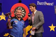 чемпионы европейский phil получают трофей taylor Стоковая Фотография RF