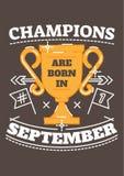 Чемпионы рождены в сентябре Бесплатная Иллюстрация