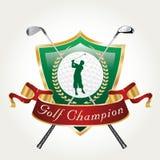 Чемпион игрока в гольф Стоковые Изображения RF