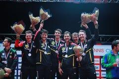 Чемпион 2017 команды ` s людей Германии европейский стоковое фото rf