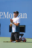 Чемпион Майк Брайан грэнд слэм во время США раскрывает двойники 2014 полуфинала соответствует на короле Национальн Теннисе Центре Стоковые Изображения RF