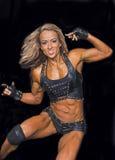Чемпион фитнеса выполняет ее режим этапа Стоковые Фото