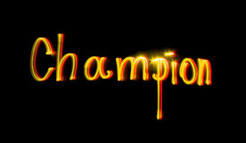 чемпион Стоковое Изображение RF