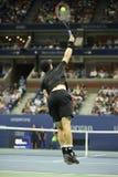 Чемпион Andy Мюррей грэнд слэм Великобритании в действии во время США раскрывает спичку 2016 круглую 4 Стоковая Фотография RF