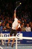 Чемпион Andy Roddick грэнд слэм Соединенных Штатов в действии во время события тенниса годовщины решающего сражения BNP Paribas 1 Стоковое фото RF