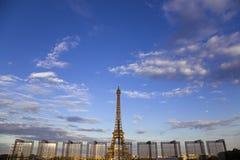 чемпион de eiffel повреждает башню paris Стоковые Фотографии RF