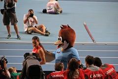 Чемпион e Isinbayeva с воробьем Стоковые Фотографии RF