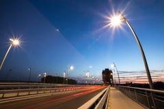 Черви Германия башни и моста Nibelungen в вечере Стоковые Изображения RF