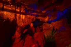 Черви зарева в пещере в Новой Зеландии Стоковая Фотография RF
