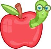 Червь Яблока Иллюстрация штока