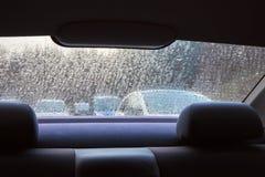 Через влажное окно Стоковые Изображения