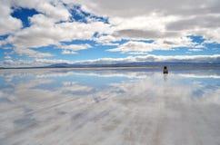 Через горизонт прямо в облаках Стоковое Фото