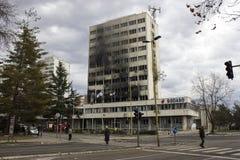 Через день Tuzla после демонстрации Стоковая Фотография RF