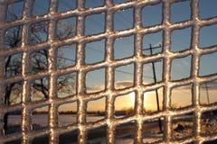 Через лед Стоковая Фотография