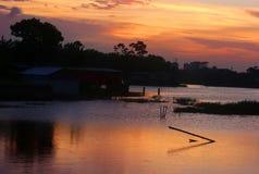 Через золотой момент после заходящего солнца Стоковые Изображения