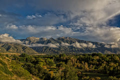 Через долину к Уосату Стоковая Фотография