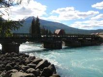 через реку Монголии моста Стоковые Изображения
