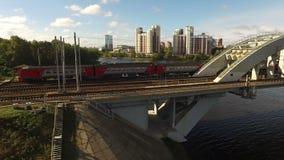 через реку railway моста видеоматериал