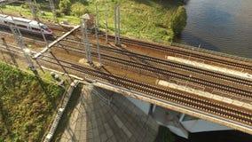 через реку railway моста акции видеоматериалы