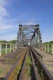 через реку railway моста Стоковые Изображения RF