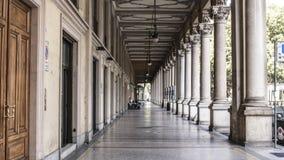 Через Sacchi Турин Италию Стоковые Фото