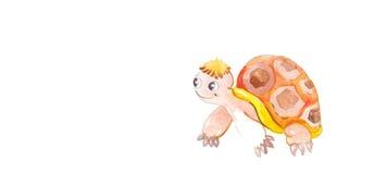 Черепаха акварели красочная Стоковое фото RF