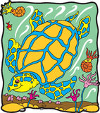 черепаха динозавра archelon Стоковое Фото