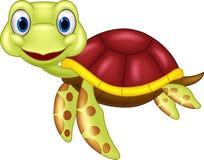 Черепаха младенца шаржа милая Стоковое фото RF