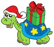 черепаха подарка рождества иллюстрация вектора