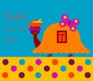 черепаха приветствию карточки Стоковое Изображение