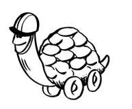 черепаха чертежа шаржа иллюстрация вектора