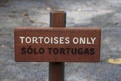 Черепахи знака только Стоковые Изображения RF