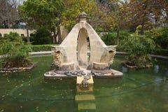 Черепахи на орнаментальном пруде стоковое фото