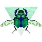 Черепашка скарабея, египетский символ Стоковая Фотография