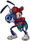 Черепашка штарки шаржа вектора с камерой Стоковые Изображения