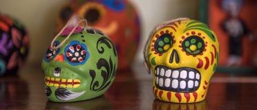 черепа ацтекского цветастого дня мертвые мексиканские Стоковое Фото