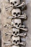 Черепа и косточки в часовне-Sedlec косточки, Kutna Hora Стоковые Фотографии RF