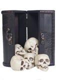 черепа комода людские деревянные Стоковое Изображение