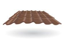 Черепица рифлёная Стоковое Фото