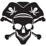 Череп Веселого Роджера символа пирата Стоковая Фотография RF