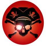 Череп Веселого Роджера символа пирата Стоковые Изображения