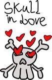 Череп в влюбленности иллюстрация штока