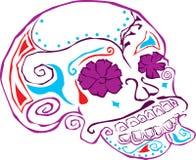 череп дня мертвый иллюстрация штока
