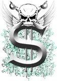 череп доллара Стоковое Изображение