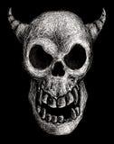 Череп демона Стоковое Изображение RF