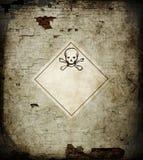 череп знака опасности Стоковое фото RF