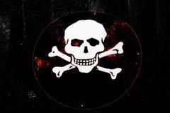 череп знака Стоковое Изображение