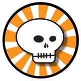 череп иконы halloween Стоковое Изображение